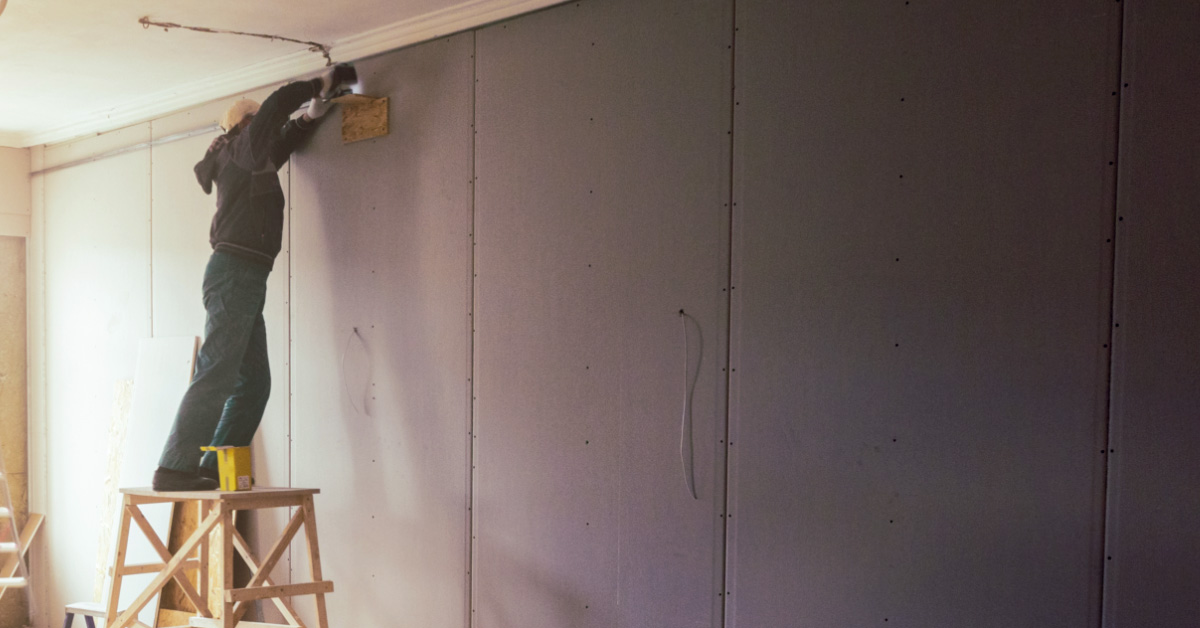 How to install gypsum board walls like a professional